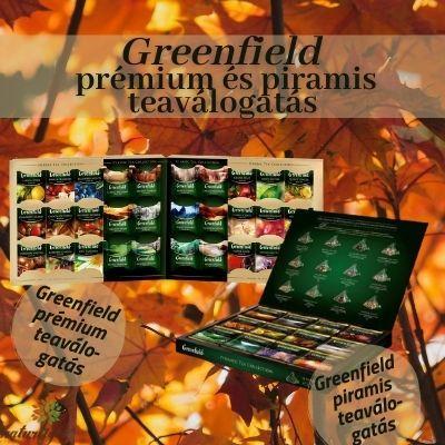 Greenfield prémium és piramis teaválogatás