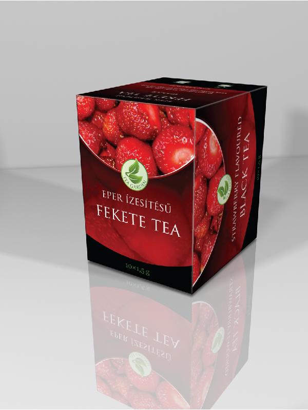 Herbária eper ízesítésű fekete tea 10 filter