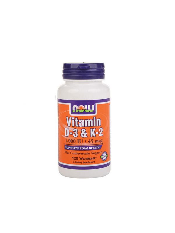 Now Vitamin D-3 & K2 120db
