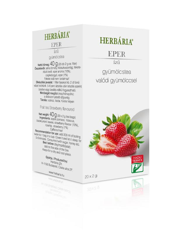 Herbária gyümölcstea Eper ízű 20 filter