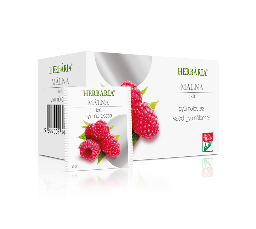 Herbária Gyümölcstea Málna ízű Filteres 20x2g