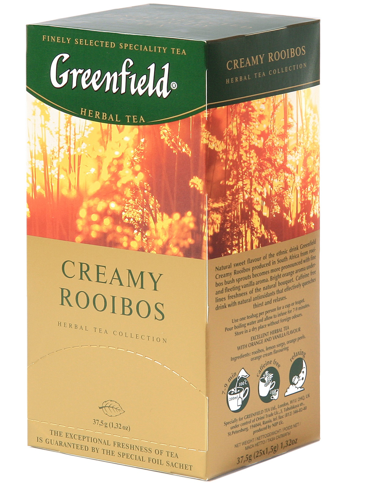 Greenfield creamy rooibos tea 25 filter