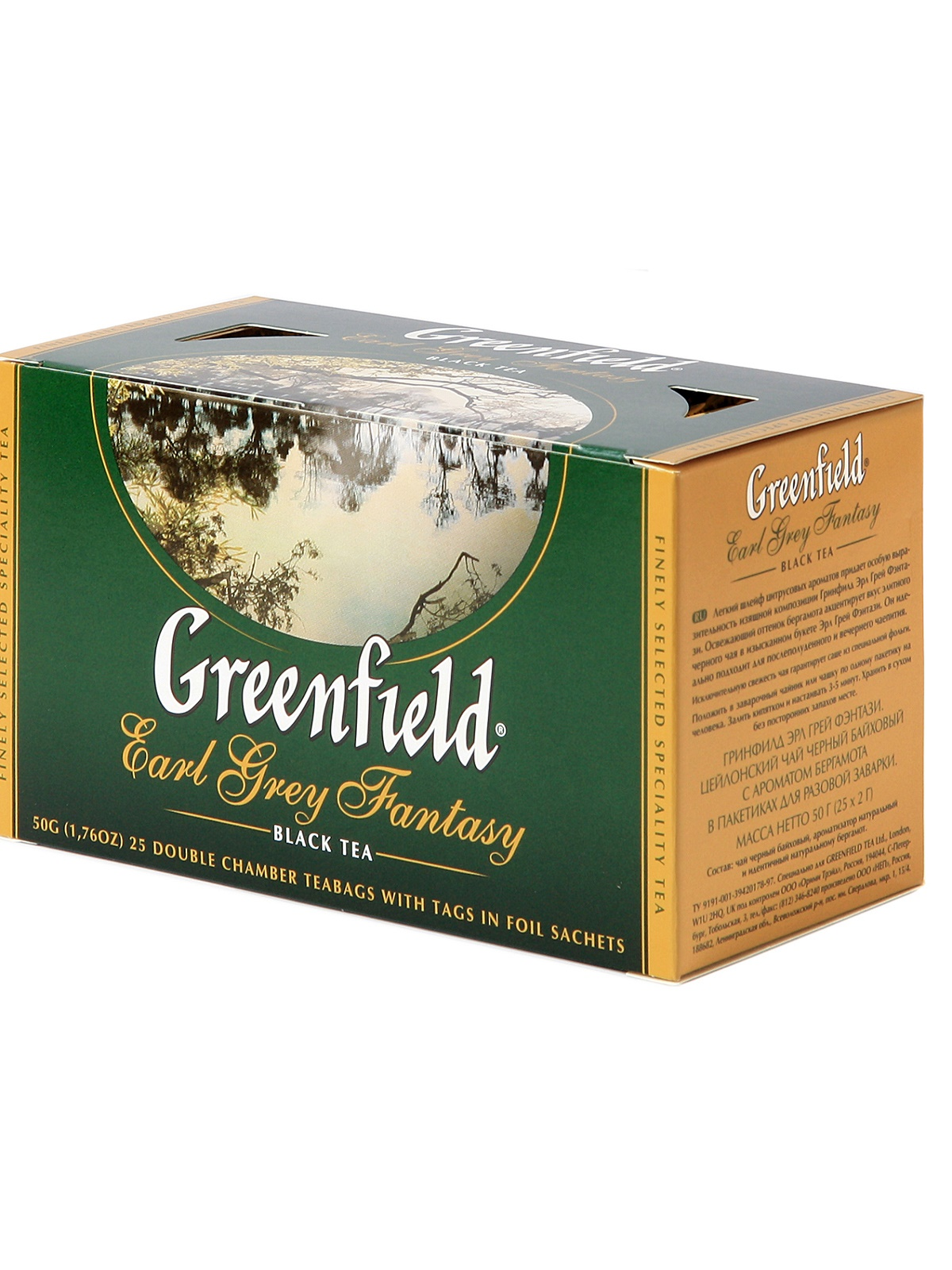 GREENFIELD EARL GREY FANTASY TEA 25 filer