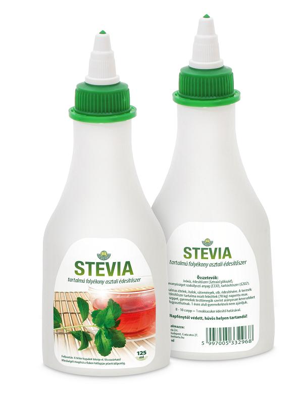 Stevia tartalmú folyékony asztali édesítőszer 125 ml Herbária