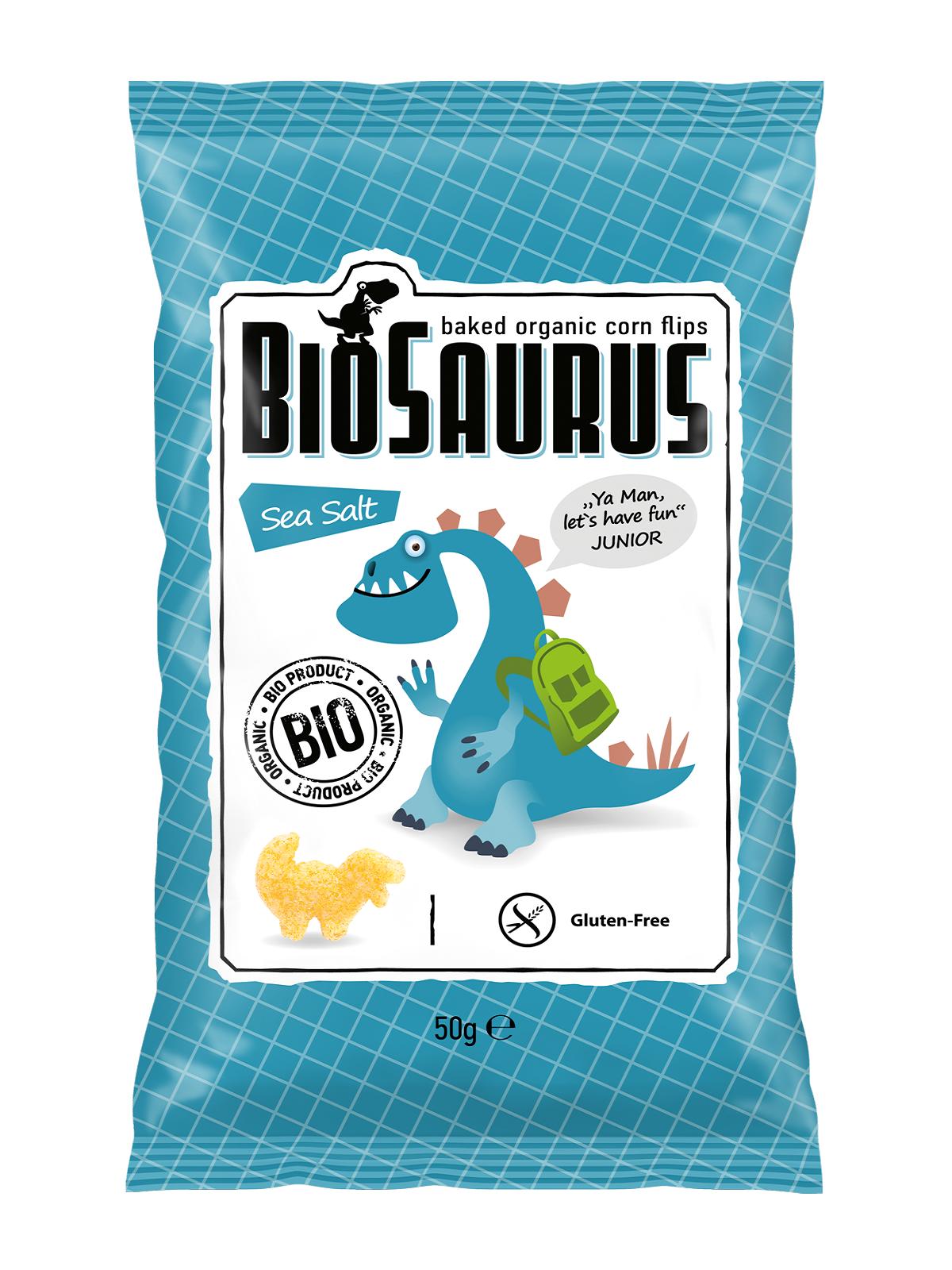 BiOpont BIOSAURUS KUKORICÁS SNACK, tengeri sós 50g