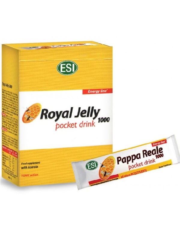 ESI Royal Jelly 1000 mg-os méhpempő ivótasakok, 160 ml (16 x 10 ml)