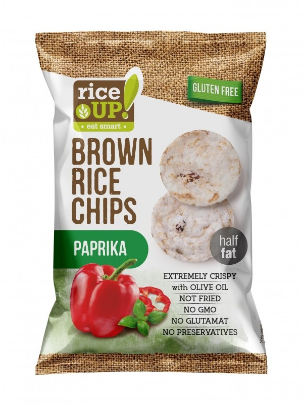 Rice up rizs chips paprikás ízű 60g