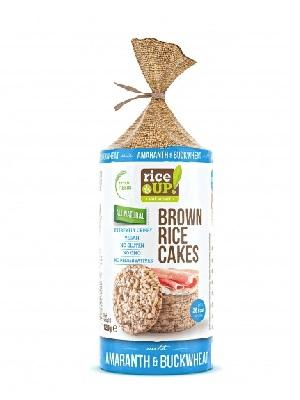 Rice Up Puffasztott teljes kiőrlésű barna rizs szelet hajdinával és amaránttal 120 g