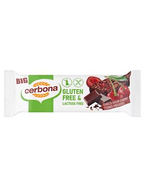 Cerbona Csokoládés-meggyes müzliszelet, gluténmentes, laktózmentes 35g