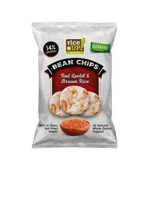 RICE UP teljes kiőrlésű rizs chips vöröslencsével 60g