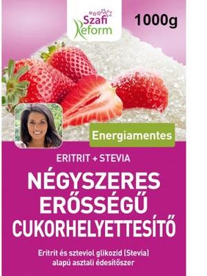 Szafi reform paleo négyszeres erősségű cukorhelyettesítő eritrit+stevia 1000g