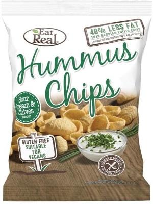 Eat real csicseriborsó chips tejföl-snidling 45g