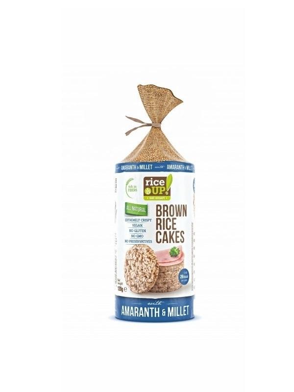 Rice Up! puffasztott barna rizs Köles - Amaránt 120g