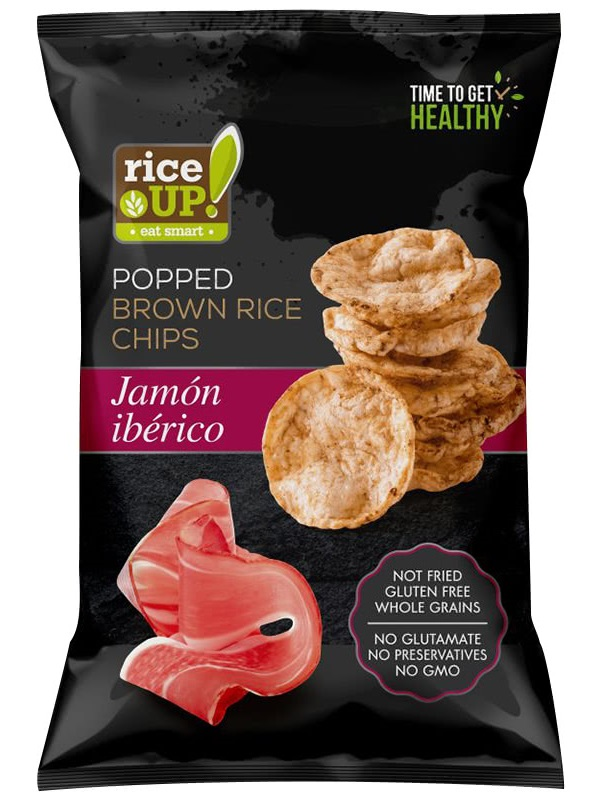 Rice Up! Ibériai sonkás barnarizs chips 60g