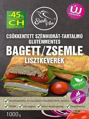 SZAFI FREE CSÖKKENTETT CH-TARTALMÚ GLUTÉNMENTES BAGETT / ZSEMLE LISZTKEVERÉK 1000 G