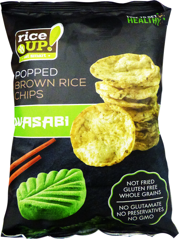 Rice Up barnarizs chips Wasabi ízű  60g