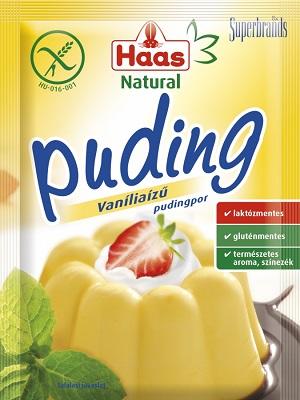 Haas gluténmentes vaníliás pudingpor 40g