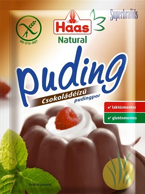 Haas gluténmentes csokoládé pudingpor 44g