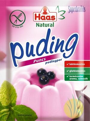 Haas gluténmentes puncs pudingpor 40g