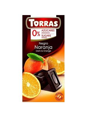 TORRAS narancsos étcsokoládé hozzáadott cukor nélkül 75g