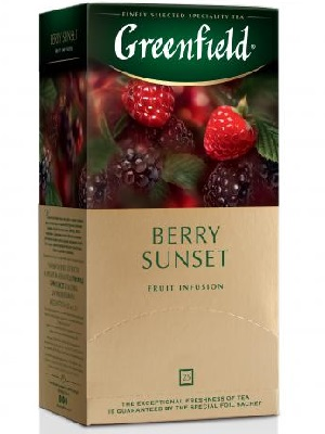 Greenfield berry sunset tea 25 filter 50g