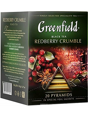 Greenfield redberry crumble pyramids 20 filter 36g