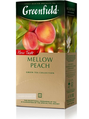 Greenfield mellow peach 25 filter 45g