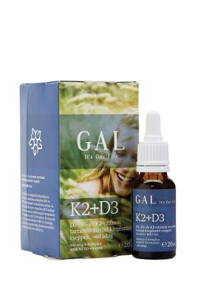 GAL k2+d3 folyékony vitamin 20 ml