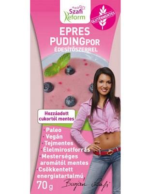 Szafi Reform Epres pudingpor édesítőszerrel 70g