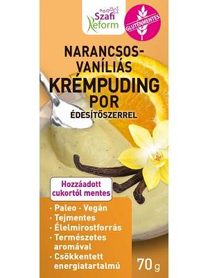 Szafi Reform Krémtúró/narancsos vaníliás ízű pudingpor édesítőszerrel 70g