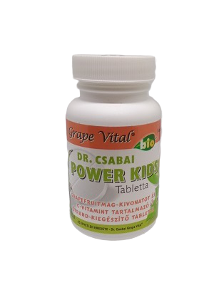 Grape Vital Dr. Csabai POWER KIDS vitaminos tabletta 60db 15 g