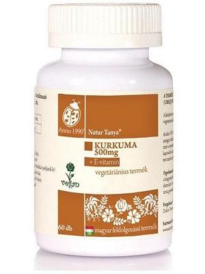Natur Tanya szerves Kurkuma E-vitaminnal tabletta 60db