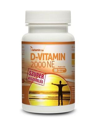Netamin D-vitamin SZUPER 50 mcg/2000 NE lágyzselatin kapszula 100db