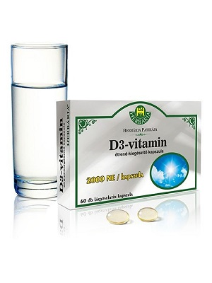 Herbária D3 vitamin 200NE/kapszula  60 db