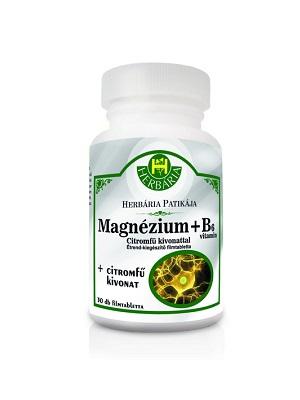 Herbária Magnézium + B6 + citromfű filmtabletta 30db
