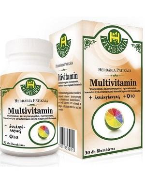 Herbária Multivitamin + ásványi a. + Q10 filmtabletta 30db