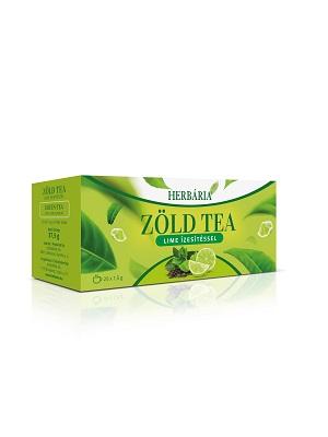 Herbária Zöld tea lime ízesítéssel filteres 20db