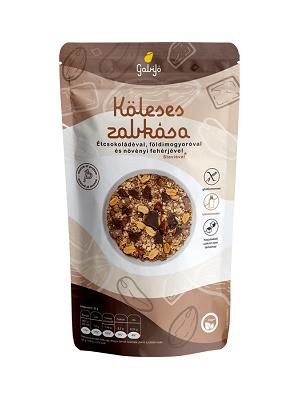 Gabijó köleses zabkása étcsokoládéval, földimogyoróval és növényi fehérjével (protein) 275g