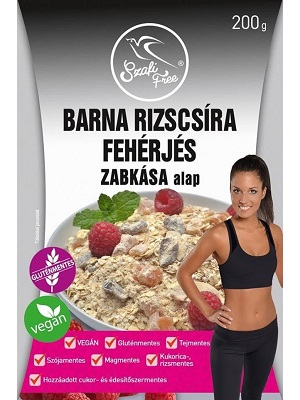 SZAFI FREE BARNA RIZSCSÍRA FEHÉRJÉS ZABKÁSA ALAP 200G