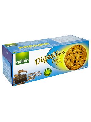 Gullon Digestive zabpelyhes korpás keksz étcsokival 425g