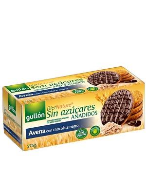 Gullon avena étcsokoládés zabkeksz cukor hozzáadása nélkül 275g