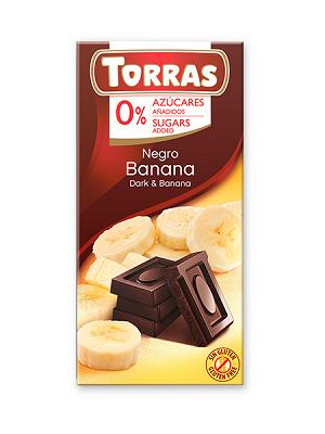 Torras banános étcsokoládé hozzáadott cukor nélkül 75g