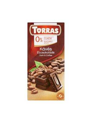 Torras kávés étcsokoládé hozzáadott cukor nélkül 75g