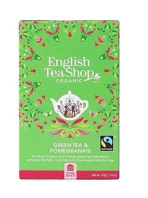 English Tea Shop zöld bio tea gránátalma 40g (20filter)