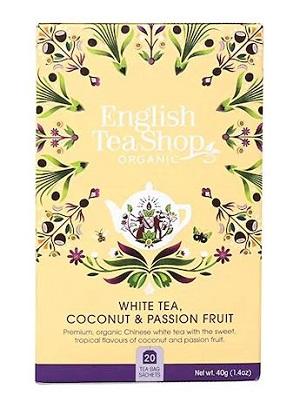 English Tea Shop fehér bio kókuszos és maracujás tea 40g (20filter)
