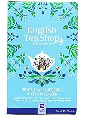 English Tea Shop fehér bio áfonyás és bodzás tea 40g (20filter)