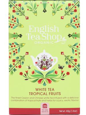 English Tea Shop fehér tea trópusi gyümölcsös 40g (20filter)