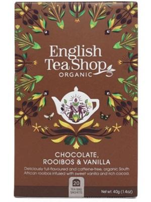 English Tea Shop csokoládés és vaníliás rooibos bio tea 40g (20filter)