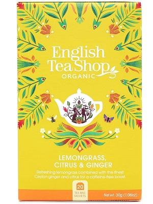 English Tea Shop citromfű gyömbér és citrus bio tea 40g (20filter)