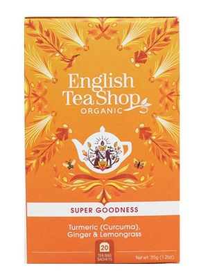 English Tea Shop gyömbér, citromfű bio tea kurkumával 40g (20filter)
